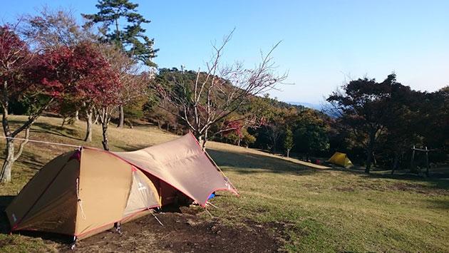 大野アルプスランドソロキャンプ