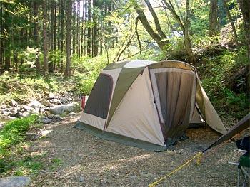 道志の森ソロキャンプ
